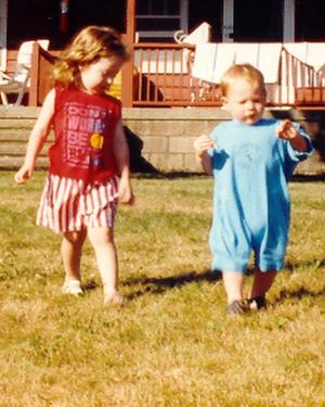 Katie and Jonah at Kutz Camp Summer 1991