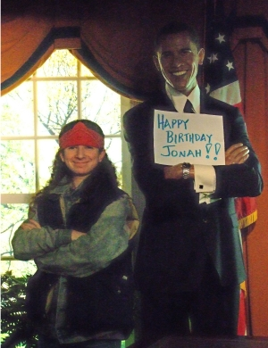 Aiden and Pres. Obama Jonah's 19th birthday (2009)