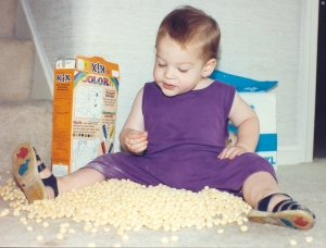 Even at age 1, Jonah was thinking outside the box! September 1991