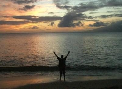 Maui sunset April 2005