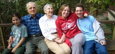 Aiden, Gpa Jake, Gma Iris, Katie and Jonah Houston, Nov 2005