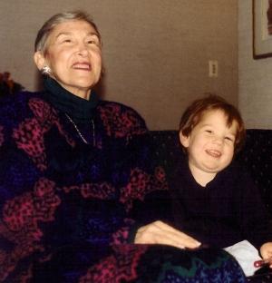 Grandma Iris and Jonah Thanksgiving 1992
