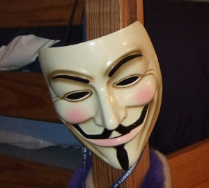 This mask from Jonah's high school days went to college with him too.