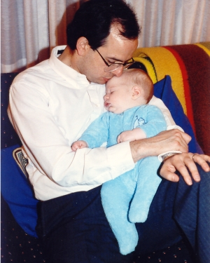 Jonah and Dad Early 1990