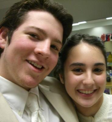 "Jonah and Abby backstage ""The Secret Garden"" (Jan 2007)"