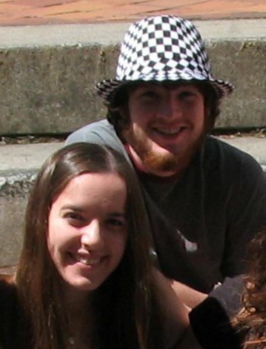 """Sarah and Jonah """"Hair,"""" Informal cast photo Jun 2008"""
