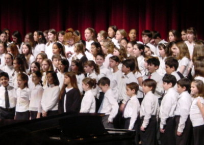 All-County Choir (March 2002) Jonah's right smack in the center!