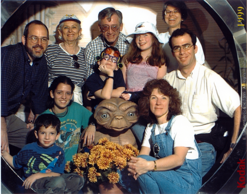 We've always considered Joel part of our family. ET too, but much more recently. (Disney World 1999)