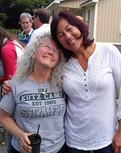 Laura (on right) with adoring fan (Ellen) at the recent Kutz 50th Anniversary (Jul 2015)