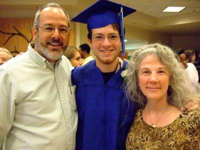 Jonah's high school graduation (Jun 2008) ... about as professorial as he ever got